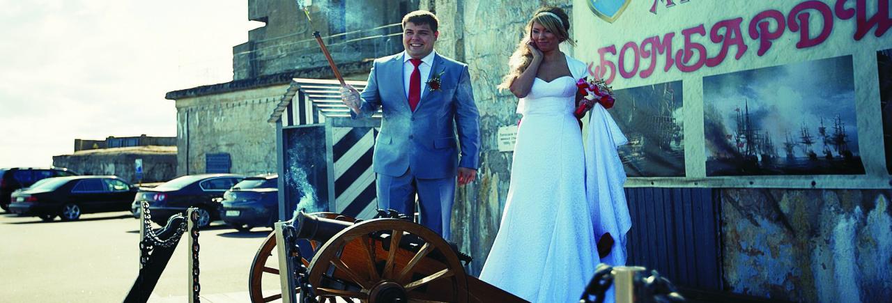 Свадьба на берегу финского залива в форте Константин