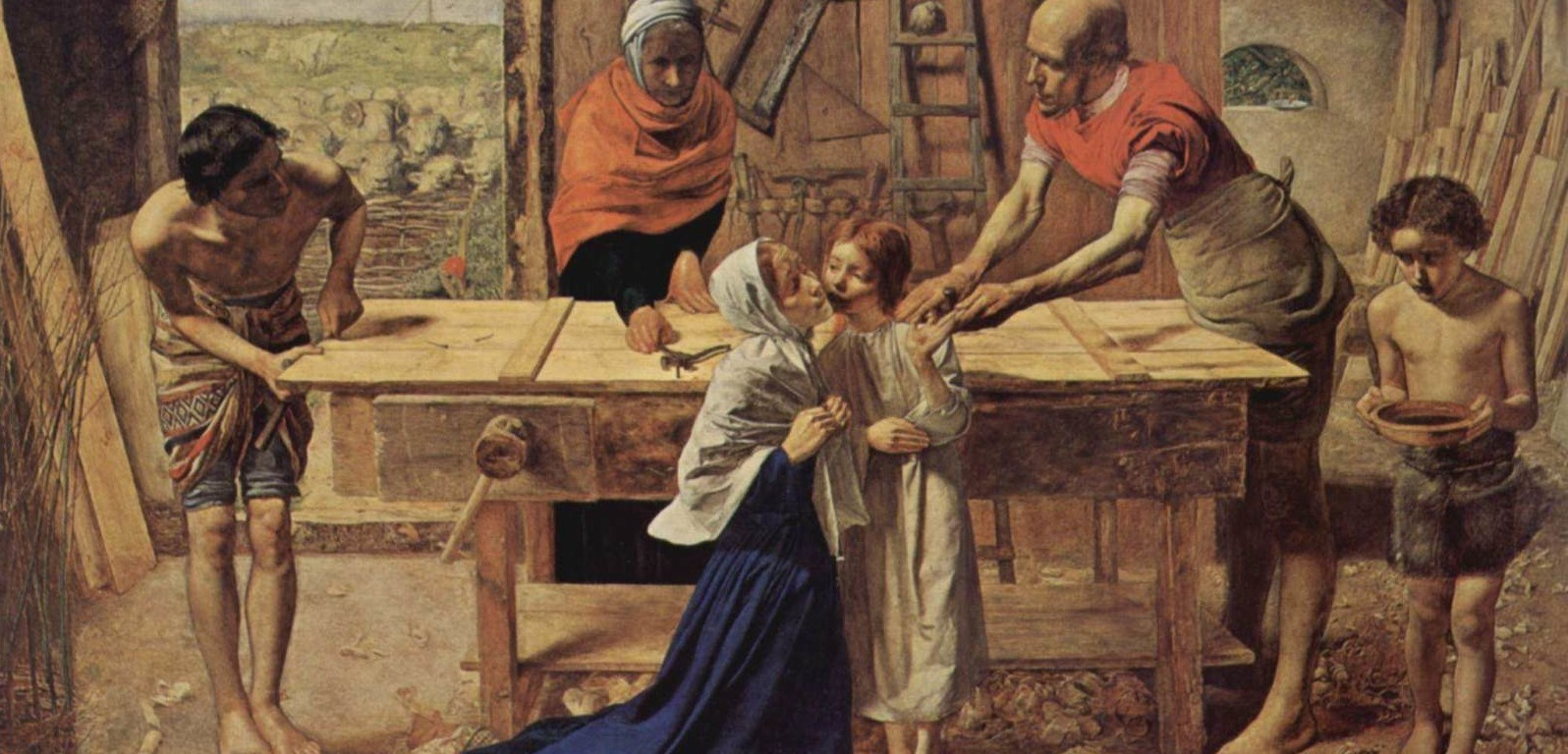 Jesus+at+the+home+of+his+parents+(the+workshop+of+the+Carpenter)-1600x1200-16738