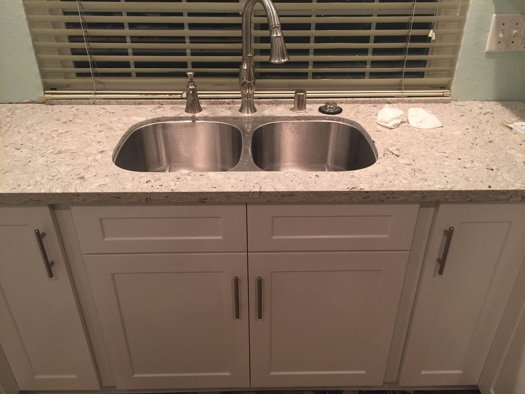 How To Measure Countertops For Quartz White Shaker Cabinets And Quartz Countertop For Mr Don