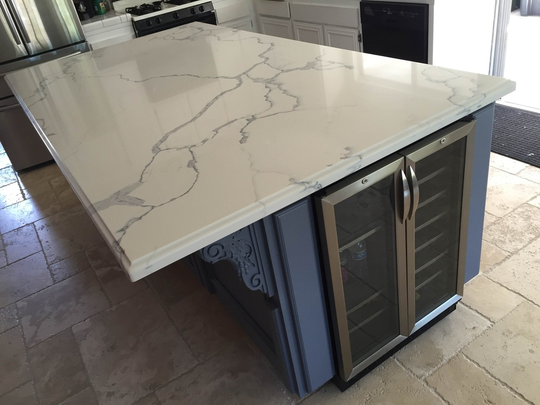 How To Measure Countertops For Quartz Quartz 4 39 X 8 39 Island With Ogee Square Edge Nathan Simi