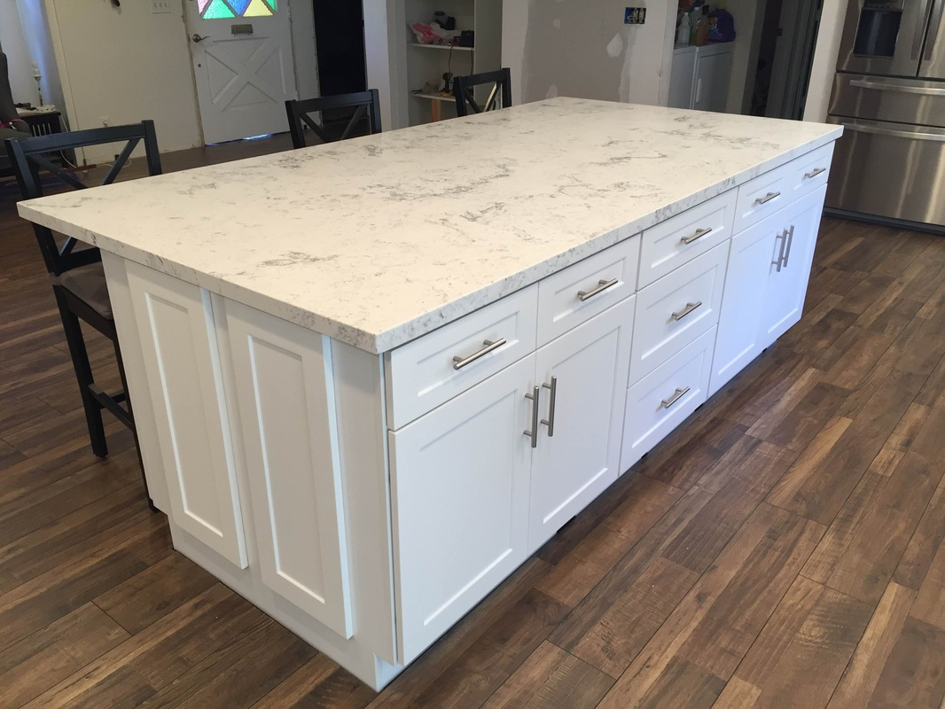 How To Measure Countertops For Quartz White Shaker Full Overlay Kitchen Cabinets With Quartz
