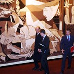 Guernica, the tapestry version, at the UN. Image: Slate.