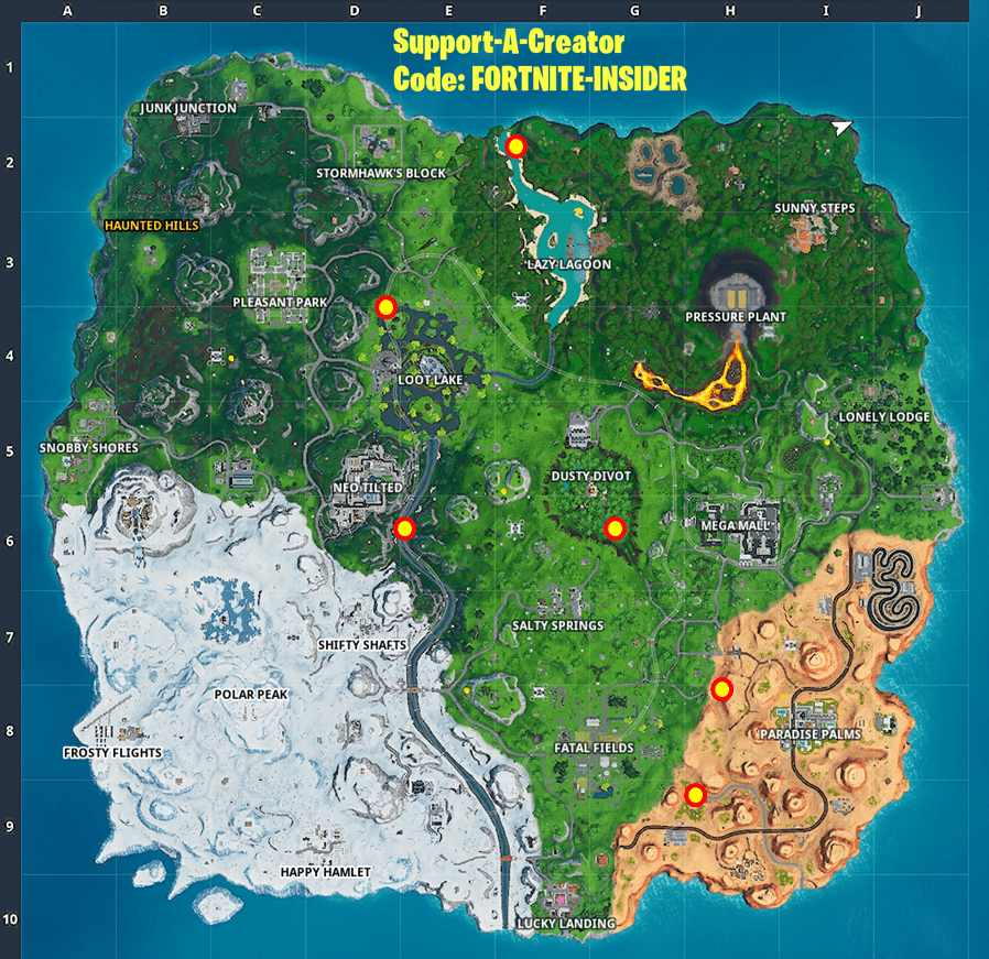 Decoration Location Fortnite All Party Balloon Decorations Locations - Pop 5