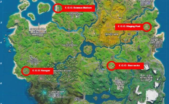 Fortnite E G O Outpost Locations Where To Find And Eliminate Opponents At E G O Outposts