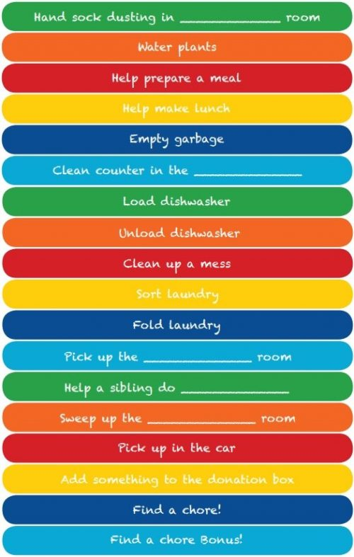 Teaching Children About Money Free Printable Chore Charts - The