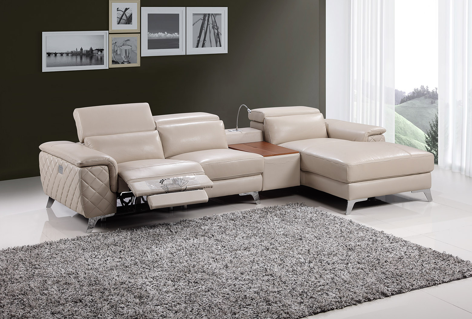 Recliner Lounge Fay 9159b Chaise Lounge With Electronic Recliner Fortune