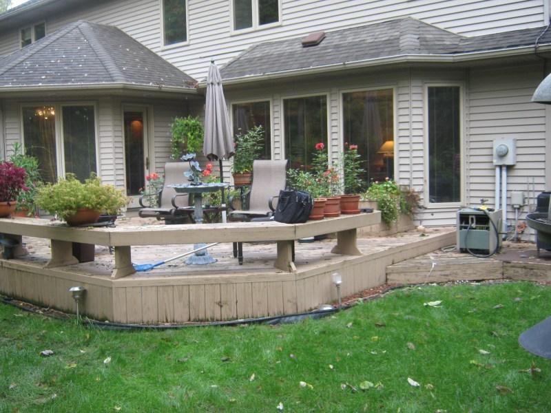 build wood deck over concrete patio  obsolete76egn