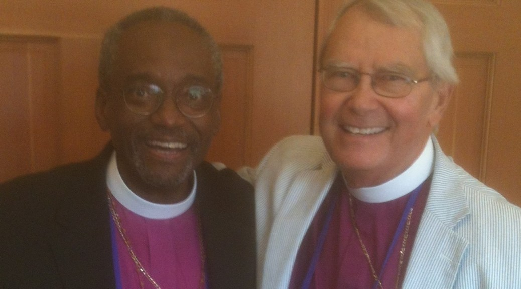 Presiding Bishop Elect Curry and Bishop High