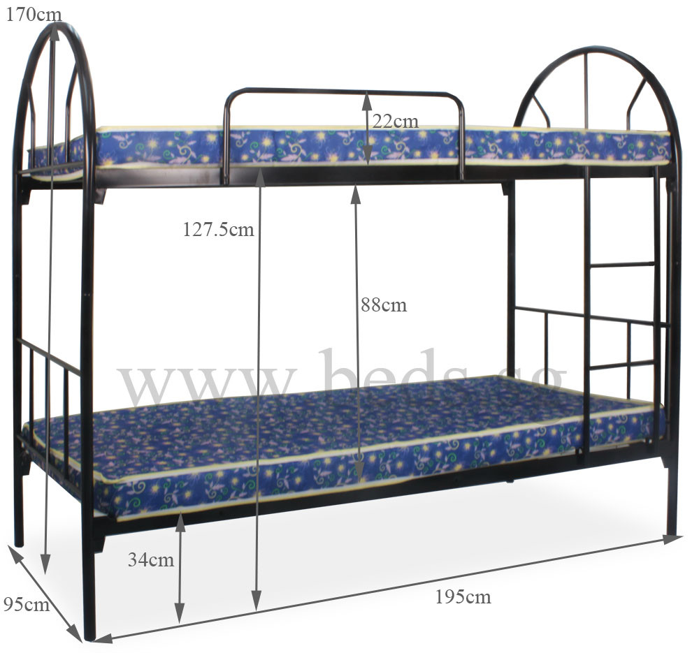 Double Size Bed Dublin Metal Single Size Double Deck Bed