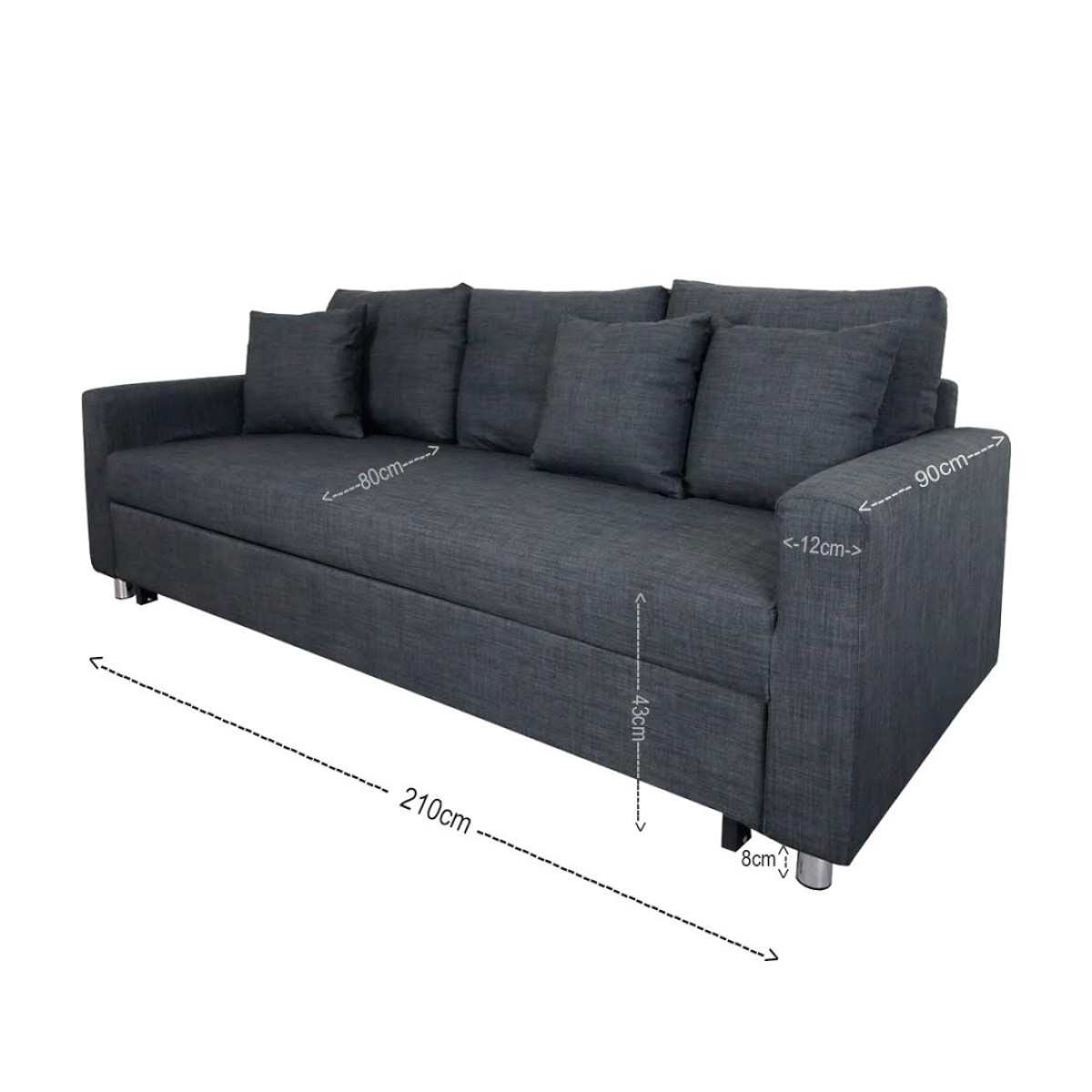 Sofa Shop In Johor Bahru Vernon Sofa Bed Grey 3 Seater