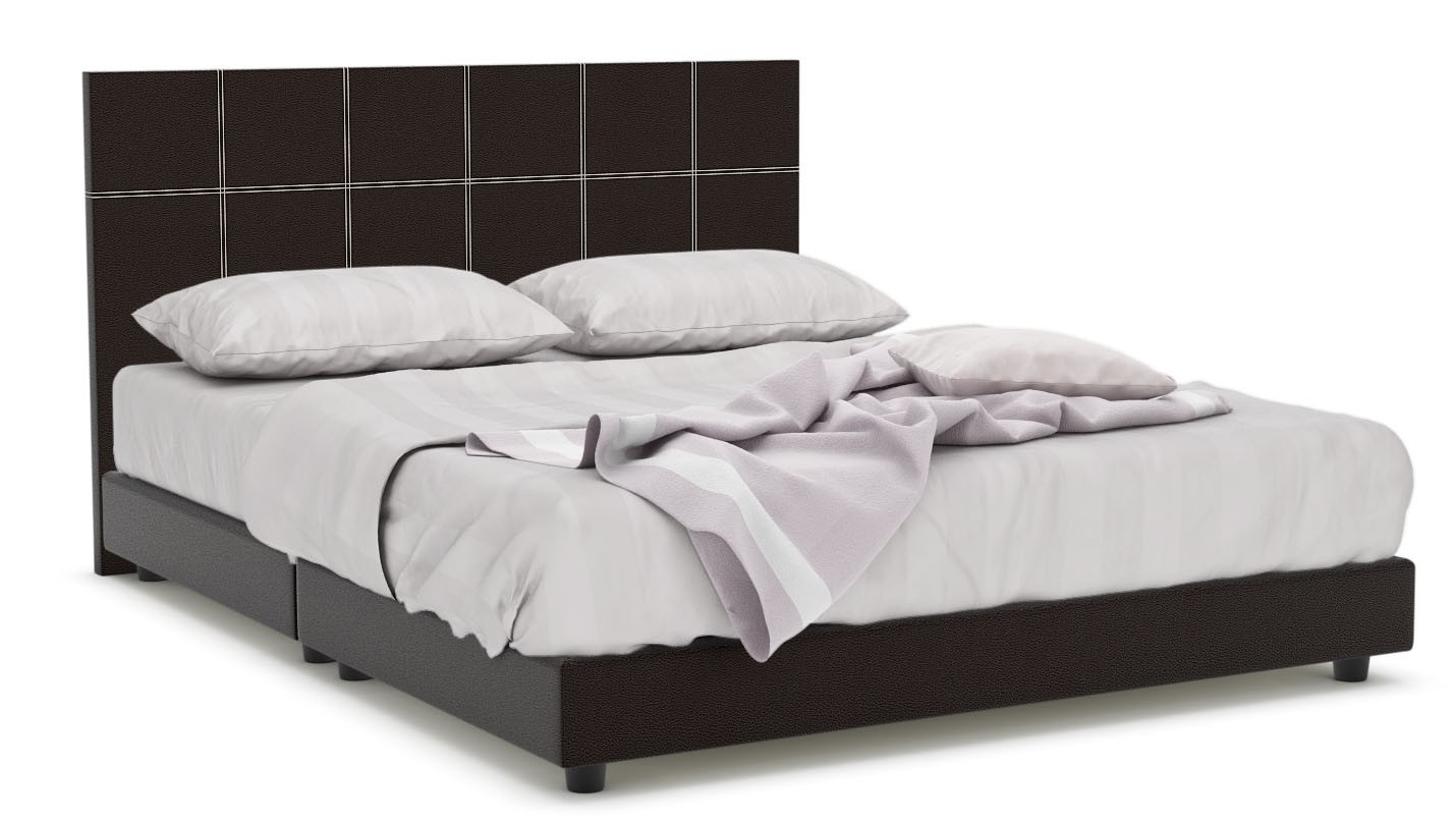 Leather Bed Frame Quadeco Faux Leather Bed Frame Queen