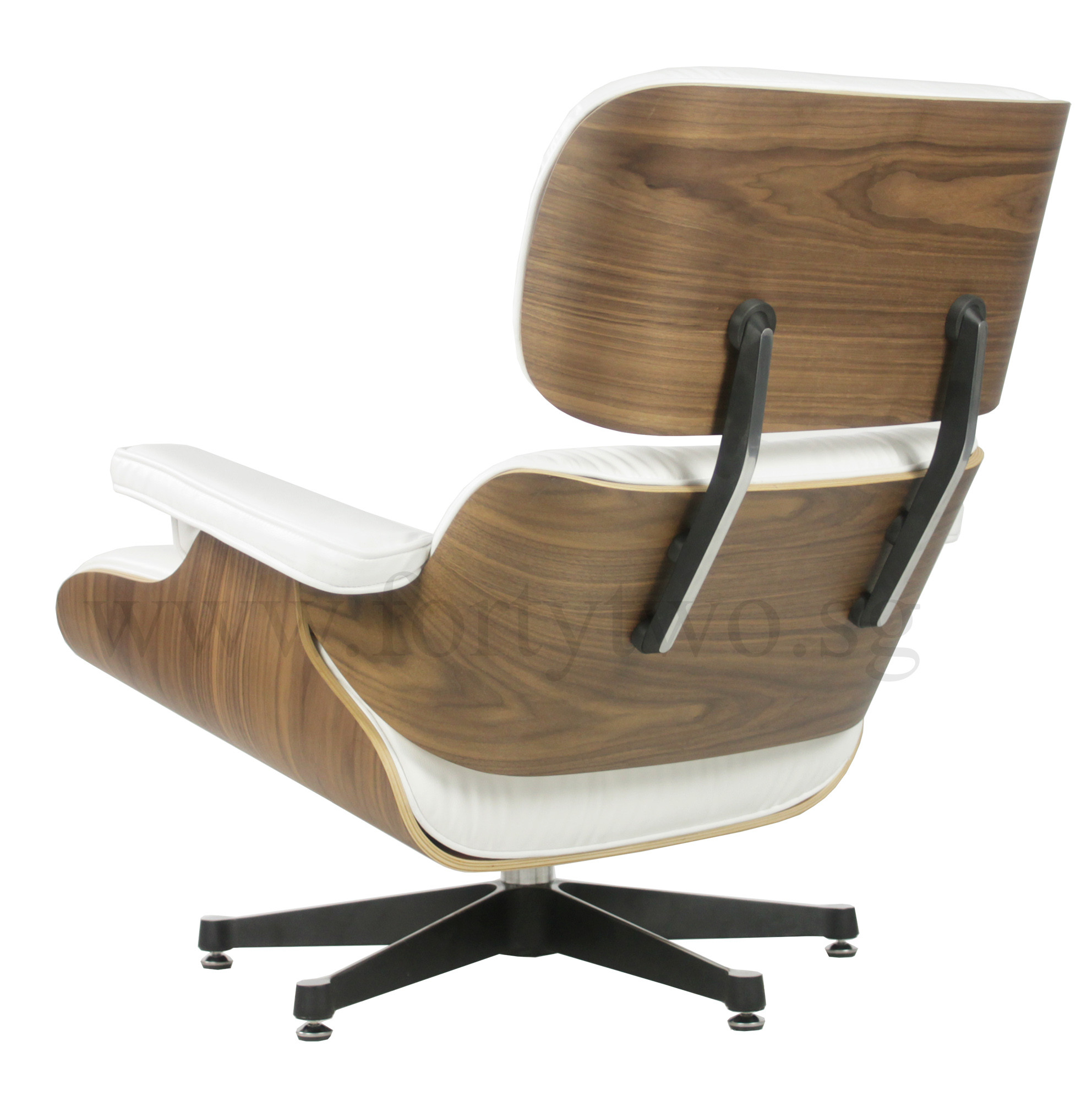Eames Lounge Chair Reproduction Eames Replica Lounge Chair (white Leather) | Furniture