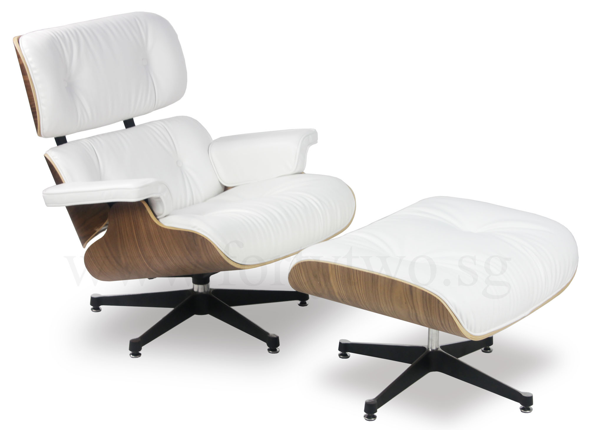Eames Replica Designer Replica Eames Lounge Chair White Leather