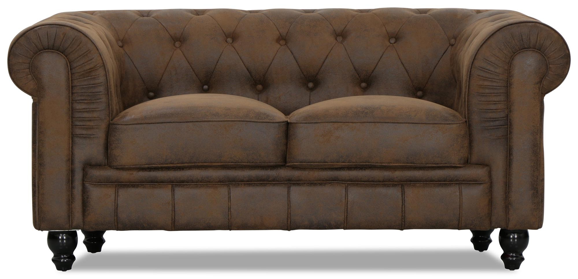 Bettsofa Vintage Benjamin Classical 2 Seater Vintage Pu Leather Sofa
