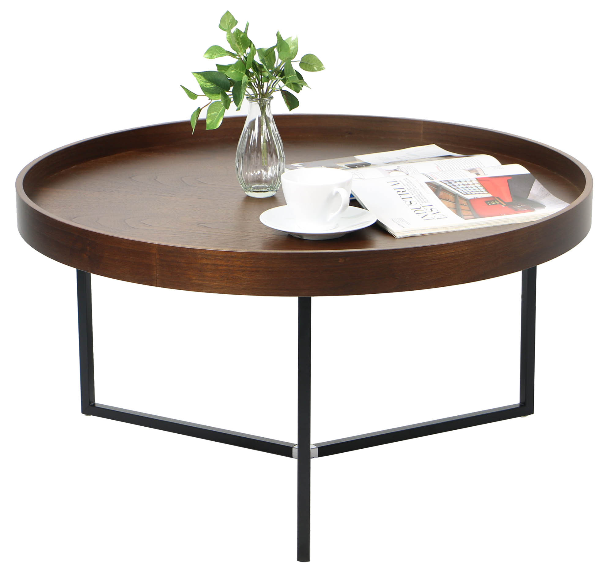 Tray Coffee Table Barrie Walnut Round Tray Table Coffee Tables Living