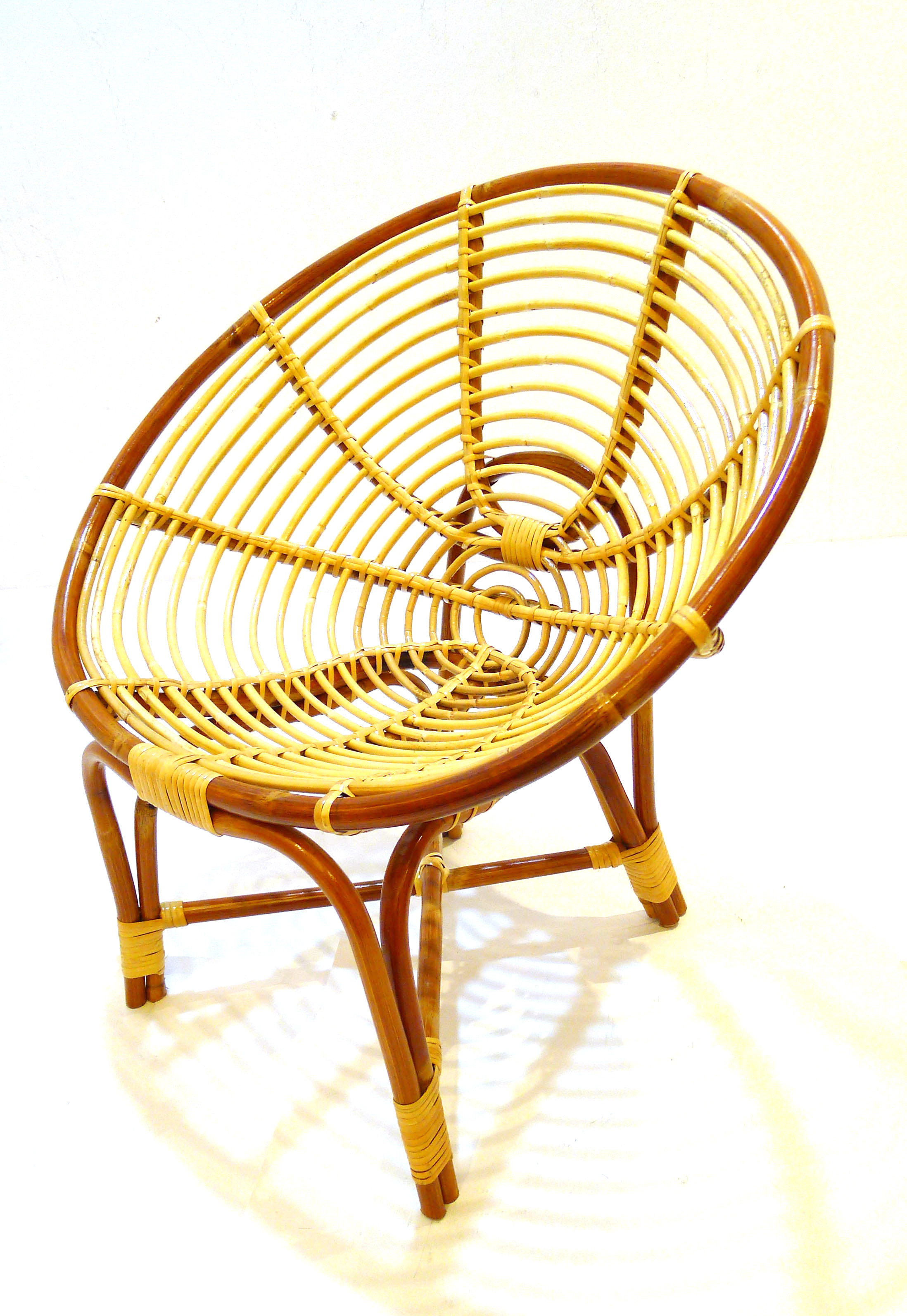 Rattan Chairs Medium Spiral Brown Rattan Chair