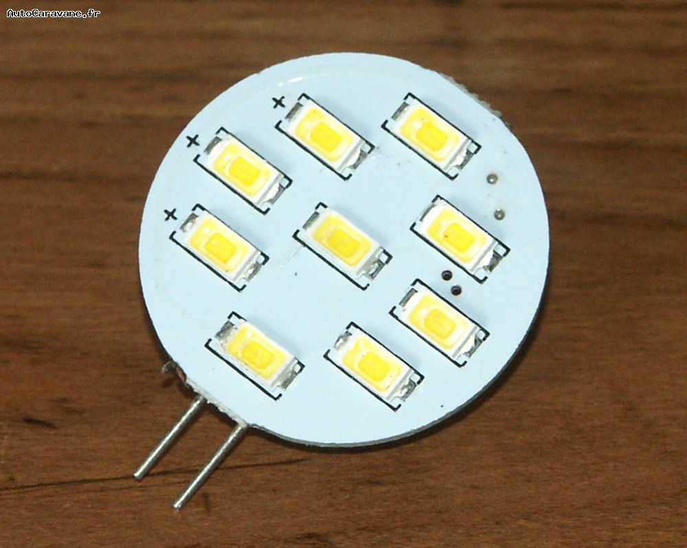 Eclairage Led 12 Volts Camping Car Eclairage Ampoule G4 9 Leds Blanc Chaud Slim