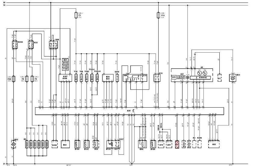 Audi schema cablage