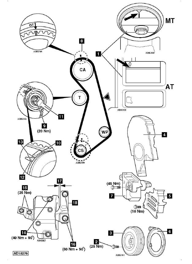 mitsubishi schema moteur golf