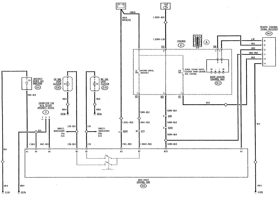 alfa 156 central locking wiring diagram
