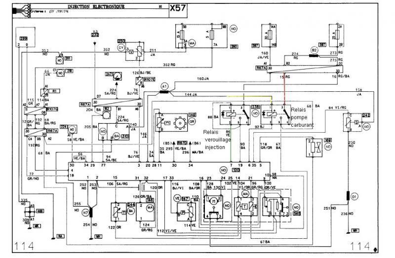renault clio 1 2 bedradings schema