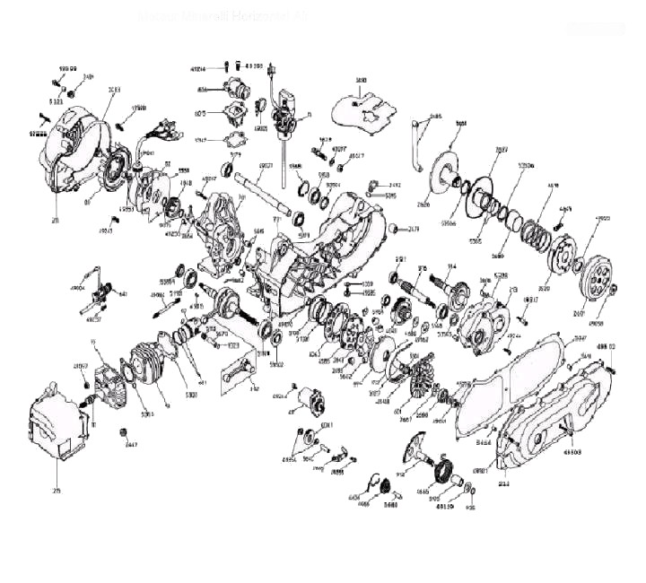 50cc Schema moteur
