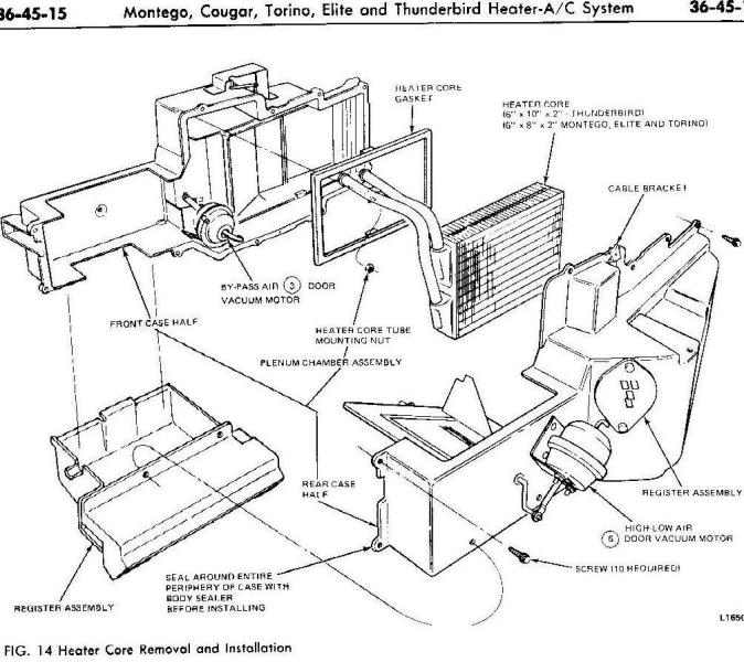 diagram of heater core replacement images