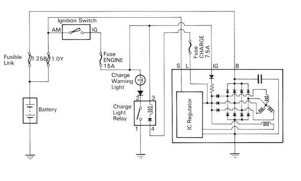 basic alternator wiring diagram basic 3 wire alternator wiring
