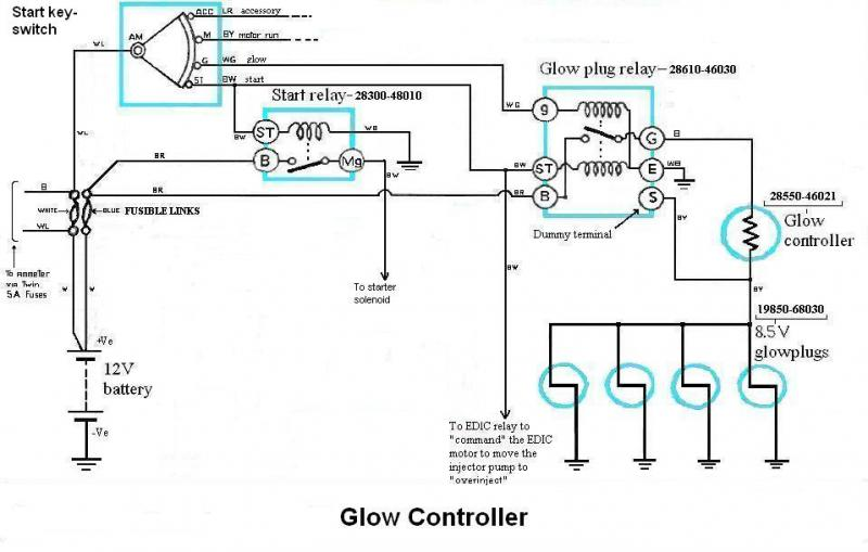 glow plug relay diagram