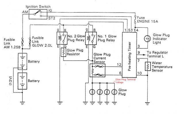 glow plug relay wiring diagram timer