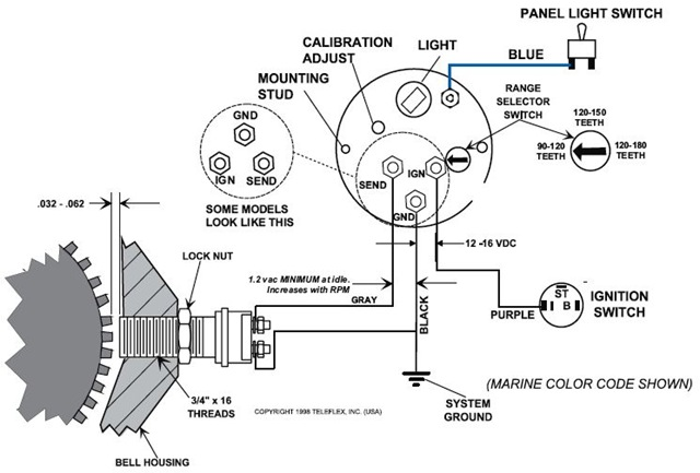 ford faria tach wiring diagram