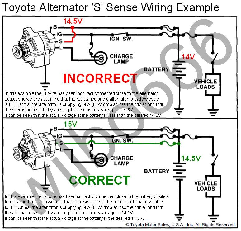 toyota car alternator wiring diagram