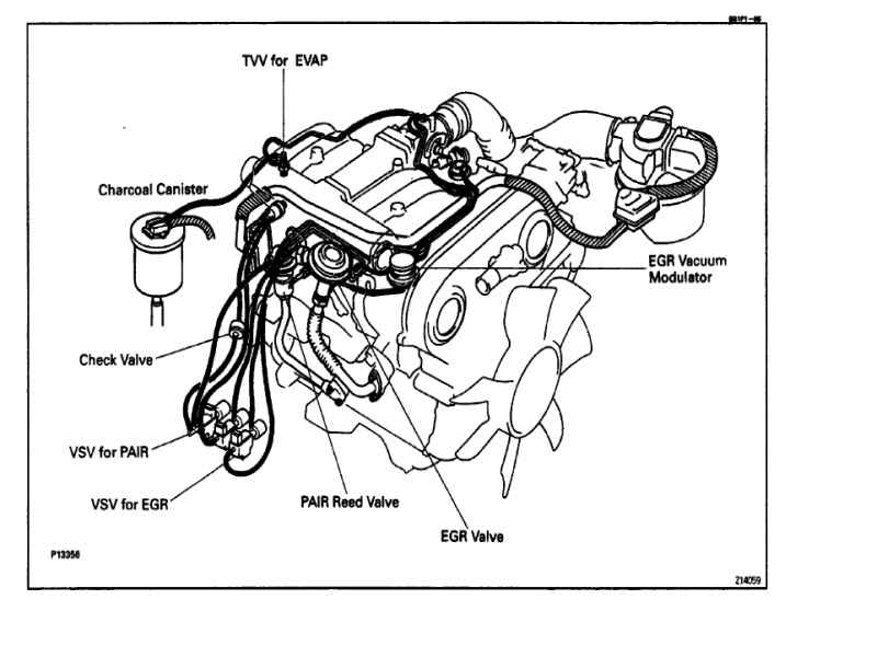 1990 toyota v6 Motor diagram