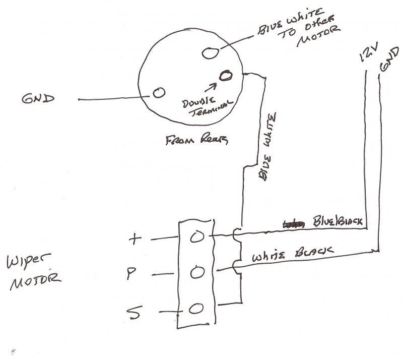 fj40 wiper motor wiring diagram