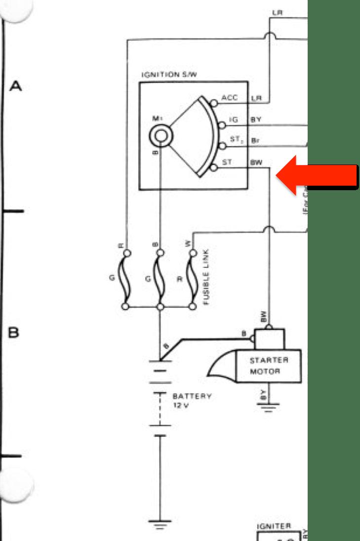 landcruiser starter motor wiring diagram
