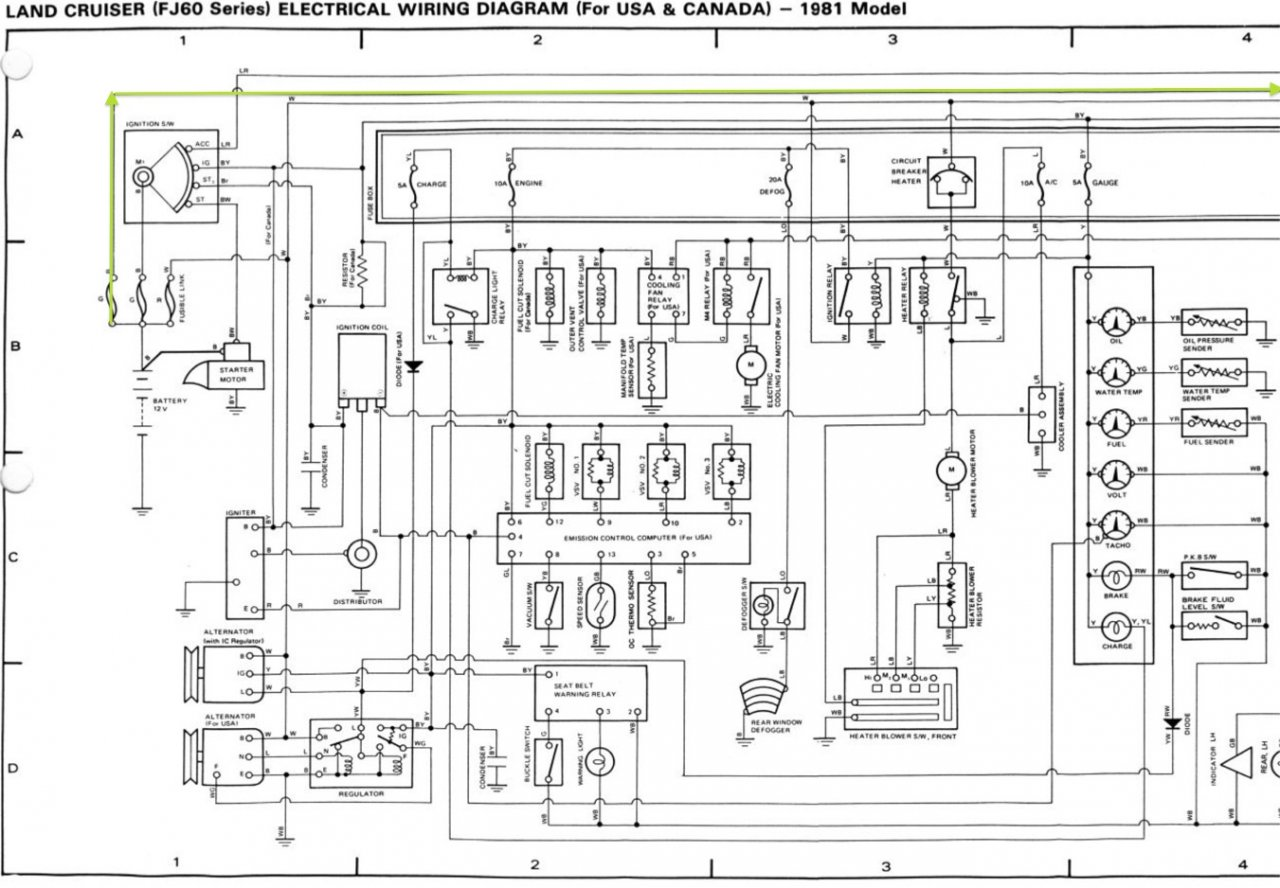 1986 toyota headlight wiring diagram schematic