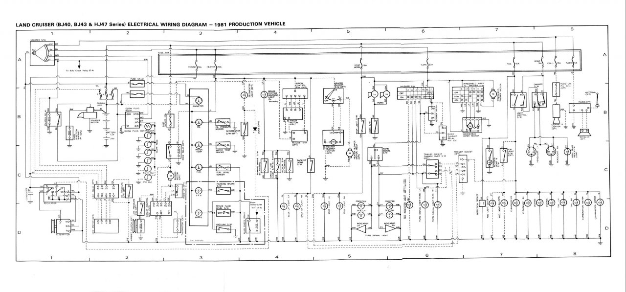 81 toyota pickup electrical diagram