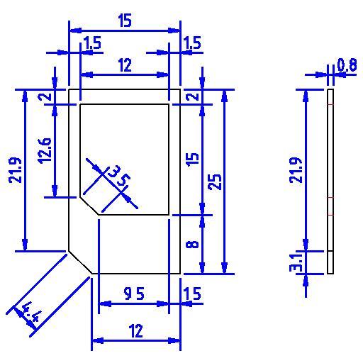 LibreCAD-user - Micro SIM card adapter - micro sim template