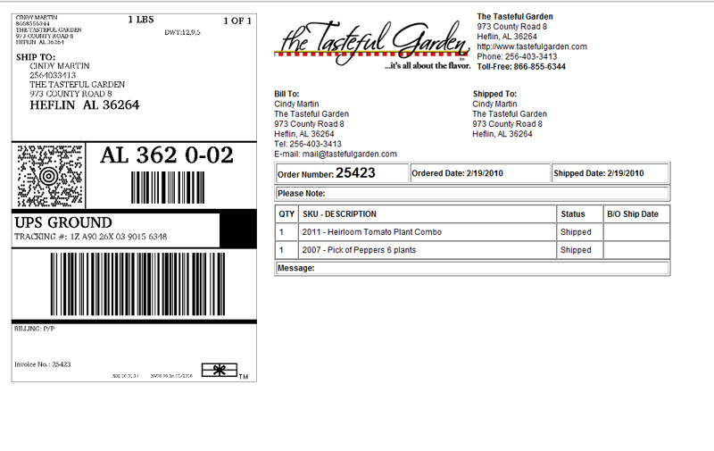 UPS shipping label customization - ProductCart Shopping Cart