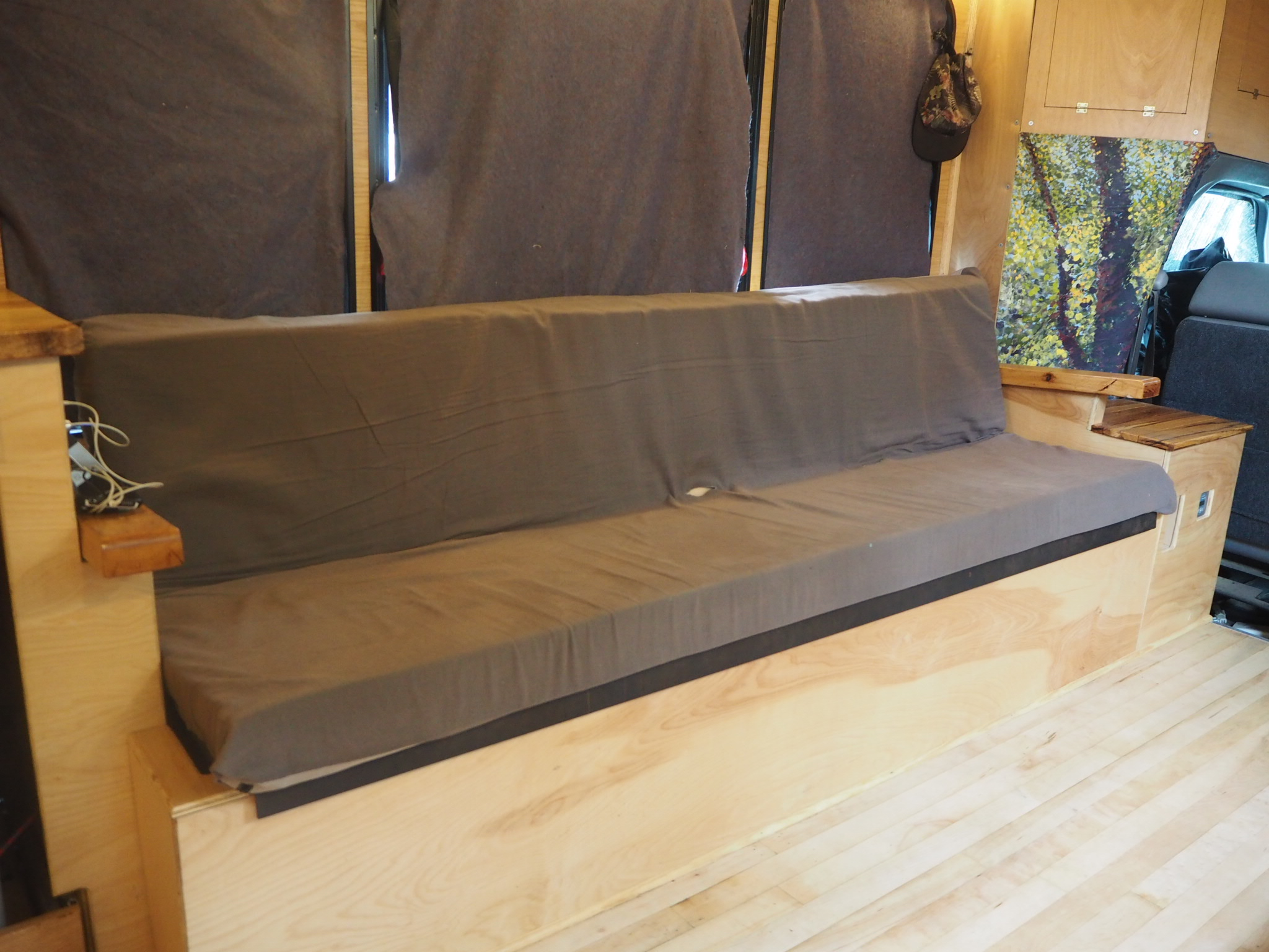 Sofa Van Lifa Living Rock N Roll Hinge Bed Couch Pros And Cons The Build Van Life