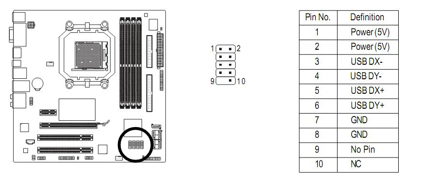 usb motherboard wiring diagram