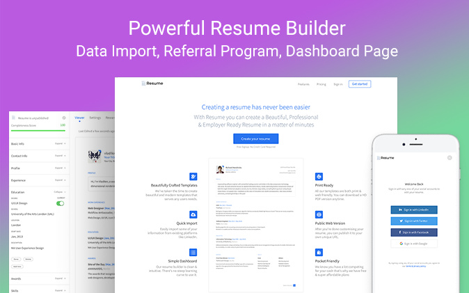 Resume Builder - New Template from Zeroqode - Templates - Zeroqode Forum - resume builder program