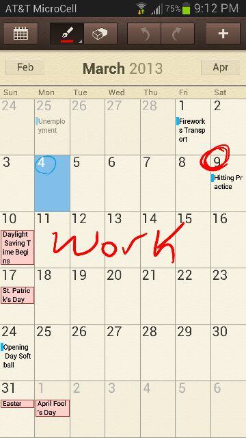 Calendar With S-Pen Question - Android Forums at AndroidCentral - calender s