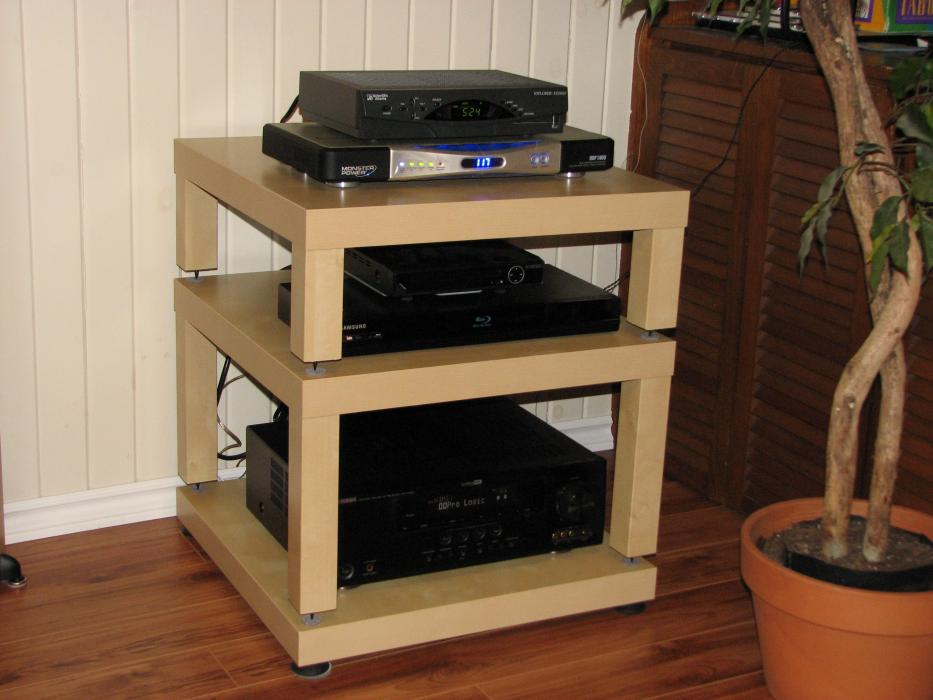 Diy Hifi Rack Ikea Diy- Ikea Lack Table Audio Rack