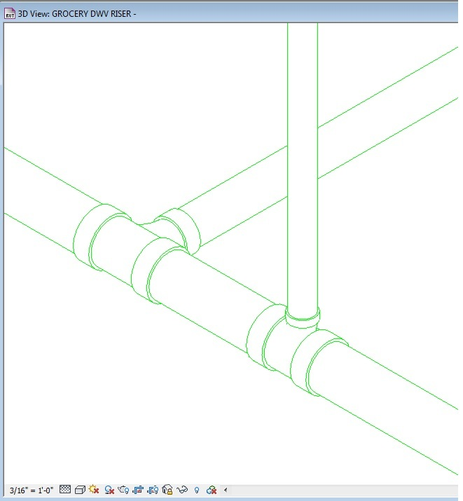 Solved No gaps in 3D piping views - Autodesk Community- Revit Products