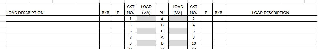 Revit Panel Schedule Template - Combine Phase Coumns - Autodesk