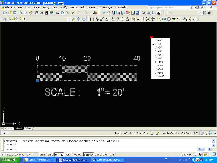 Bar/Graphic Scale blocks - Autodesk Community- AutoCAD