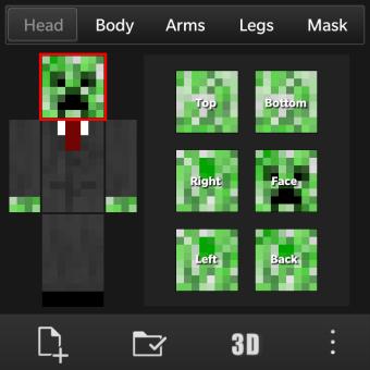 3d Wallpaper Maker App Minecraft Skin Creator Amp Editer Skined Blackberry