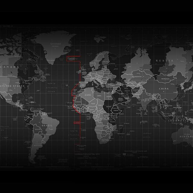 World map wallpaper - BlackBerry Forums at CrackBerry - Black And Grey World Map