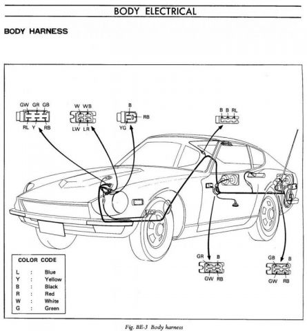 DATSUN 240Z WIRING HARNESS 24013 - Auto Electrical Wiring Diagram